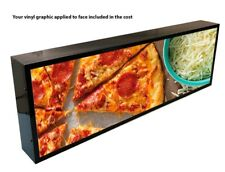 "OUTDOOR LED LIGHT BOX SIGN 12""x 24''x5"" WITH FULL COLOR DIRECT PRINT GRAPHICS"