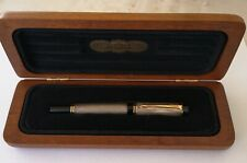 Pluma Parker Duofold Centennial De Plata Sterling Silver Nib 18k F Fountain Pen