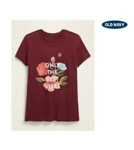 Old Navy Crimson Cranberry Graphic Short-Sleeve Tee for GirlsSz.S