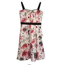 New listing WHBM Pink Floral Strapless Dress Fit and Flare Size 4