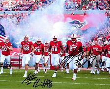 B.J. Hill Justin Jones NC State Wolfpack signed autographed 8x10 football photo!