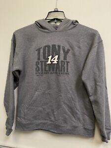 Tony Stewart #14 Nascar HTR PRIM 2014 Hoodie Youth Sweat Shirt Size L (14/16)