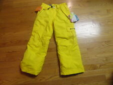 Boys S 7 8 Youth Winter Ski Snowboard Pants 686 Manual Ridge Yellow Insulated
