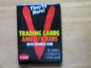 1984 Fleer V Trading Cards Wax Pack