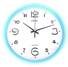 """10.9"""" Elegant Round Shape Wall Clock For Home, Office, Blue"""