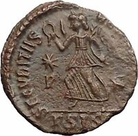 VALENTINIAN I 364AD Authentic Ancient Roman Coin ANGEL NIKE VICTORY  i30924