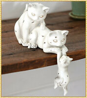 Cat Kitten Helping Hand Shelf Sitter Statue Figurine Tabletop Mantel Home Decor
