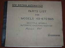 New Britain Parts List for 49, 675 & 865