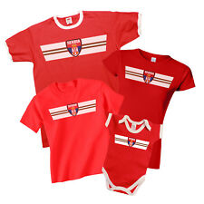 SERBIA Patriotic Fan Kit Retro Strip T-Shirt Football MENS LADIES KIDS BABY