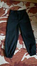 "Boohoo Black Chain Trim Cargo Trousers Size M (Waist 26.5"") BNWL"