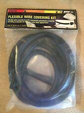 Mr Gasket 4510 BLACK Split Flexible Wire Loom Cover 1/2in. X 6ft.  Zip Ties
