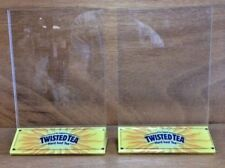 TWISTED TEA Table Tent Photo Holder - Set of TWO (2) - NEW / NOS & Free Shipping