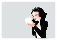 SW003 Rocker Snow White Eating Apple Macbook Decal fits 13 inch