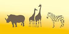 Kinderschablone, Malerschablone, Schablone, Wandschablone, Stencil - Africamix 1