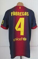 BARCELONA 2012/2013 HOME FOOTBALL SHIRT SOCCER JERSEY CAMISETA #4 FABREGAS SPAIN