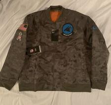 Women's Carolina Panthers Nike Salute Service Full-Zip Bomber Jacket XL NWT $110