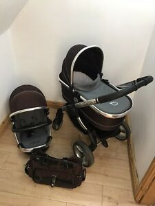 icandy Peach Two In One Pushchair/pram In Black Jack With Carry Cot Free P&P