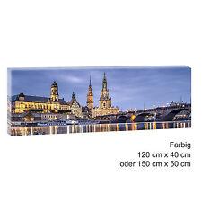 Dresden Panorama Bild Wandbild auf Leinwand Poster Kunstdruck 120 cm*40 cm 512
