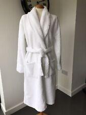 Women's JOHN LEWIS white cotton toweling robe, size M