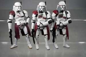 "Hasbro Star Wars 3x Legacy Collection - Commander Bacara Order 66 -  3,75"" - T54"