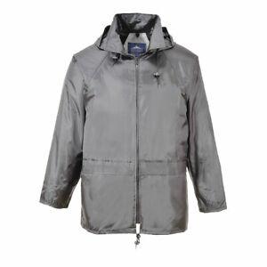 Portwest S440 Classic Rain Jacket Durable Waterproof Vented Hood Work Wear