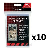 1000 Ultra PRO Tobacco Size Soft Sleeves Card Protectors Clear 10x 100ct