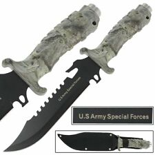 US Army Extrema Survival Combo Tatical Militaey Fixed Blade Knife Camo