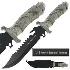 US Army Extrema Survival Combo Tatical Militaey Fixed Blade Knife Camo