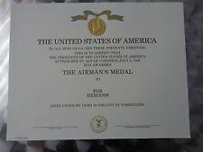 (U07) Original US Urkunde Diplome Certificate Airman´s Medal