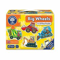 Big Wheels Vehicle Puzzles - Mini 4 & 8 Piece Jigsaw Puzzles - Orchard Toys