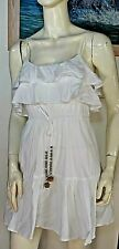 Rachel Gilbert white Ruffled Mini dress beach cover boho chic size 1 or 6-8