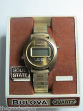 BULOVA SOLID STATE MENS Watch QUARTZ VINTAGE NOT WORKING FOR PARTS