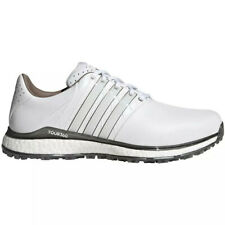 NEW Mens Adidas Tour 360 XT Spikeless 2.0 Golf Shoes White / Silver Sz 8 M