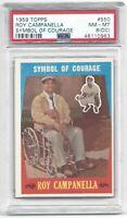"1959 Topps Roy Campanella Baseball Card #550 ""Symbol of Courage"" - NM-MT PSA 8OC"