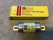 A3 Off Set Bolted Tag BS88 Fuse 40 Amp RS Components