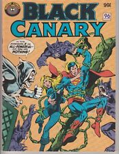 """Australian Comic """"Black Canary"""" Murray 1982 96 Pages """"Guest Starring Superman"""""""