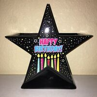 Ceramic Happy Birthday Star Vase Planter Centerpiece