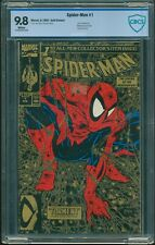 SPIDERMAN # 1 GOLD EDITION CBCS 9.8 NEAR MINT/MINT AUG 1990 MARVEL WHITE PAGES