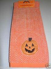 One Halloween Midnight Market Bathroom Hand Towel ORANGE Pumpkin Decorative NWT