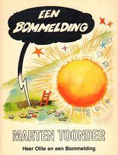 EEN BOMMELDING (HEER OLLIE EN EEN BOMMELDING) - MARTEN TOONDER