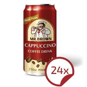 Mr. Brown CAPPUCCINO - leckeres Kaffee-Kaltgetränk 24er Pack = 24 Dosen