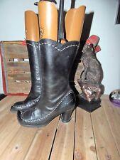 FLUEVOG Boots Sz 7.5 BLACK LEATHER BOOTS 7.5 JOHN FLUEVOG BOOTS 7.5 TALL BOOTS