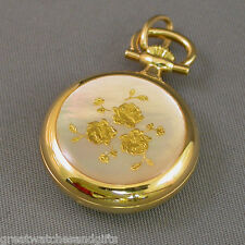 Chandler #3176  ~ Gold Plated Quartz Pendant Watch