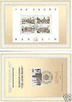 Berlin 1987: 750 Jahre! Ersttagsblätter mit der Nr. 776 und Block Nr. 8! 159