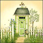 Art Print, Framed or Plaque by Linda Spivey - Cottage Outhouse 1 - LS790-R