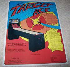 Meltec Target Ace Original Nos Vintage Shuffle Alley Promo Sales Flyer