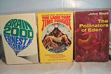 Lot Vintage Ans Science-Fiction The Pollinators de Eden Cerveau 2000 Land Time