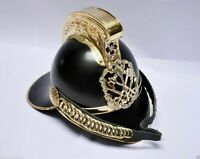Medieval Fireman Helmet Brass Black Finish Firefighting Armors Collectible Helm