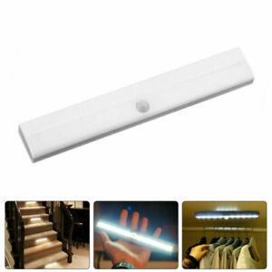 10LED PIR 120° Motion Sensor Light Wireless Wardrobe Cabinet Closet Night Lamp