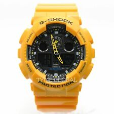 Casio G-Shock GA-100A-9A Yellow Resin Analog Digital Men's Sport Fashion Watch